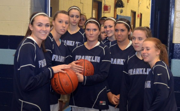Franklin Girls Bball beat Taunton in the Playoffs
