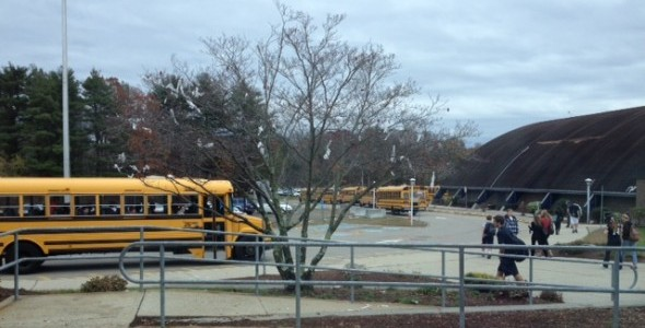 The buses were mostly empty on tuesday because many kids skipped