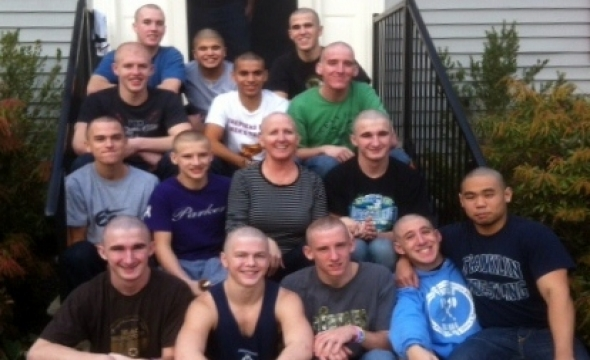 Wrestling Team Tackles Cancer