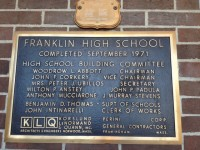 This plaque commemorates the building of the school which was finished in 1971. It can be found in the front lobby
