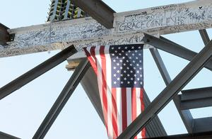 The final beam was put into place during a