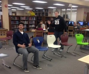 Some FHS students testing out the new chairs