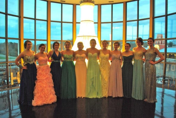 This is a picture of some of the junior girls last year who are now seniors this year.