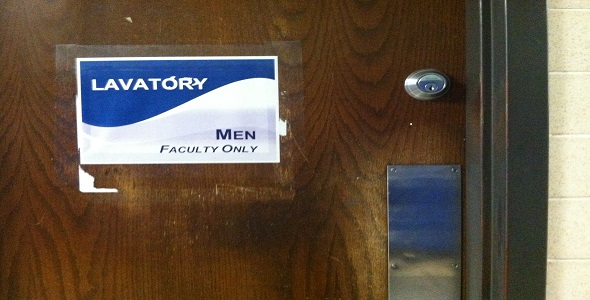 FHS Faculty Restroom, also unavailable to students. Photo by Erin Ohnemus