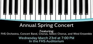 Spring Concert on Wednesday