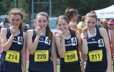 Girls 4x400 team at last season's Division 1 Championship
