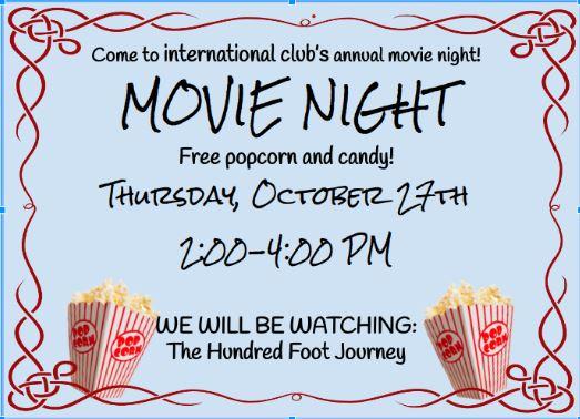 International Club Movie Night