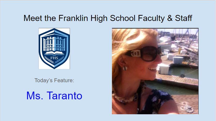 Meet Ms. Taranto