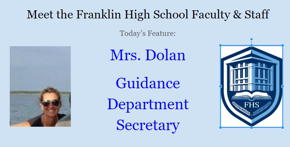 This Week's Faculty Feature: Mrs. Dolan
