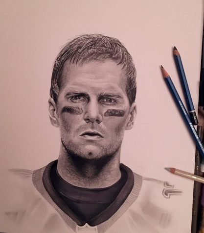 Emma Trinanes sketch of Tom Brady that has attracted a lot of attention