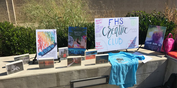 Creative Club's display at the Club Fair