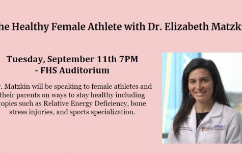 Female Sports Medicine Doctor Speaking at Franklin High School on 9/11