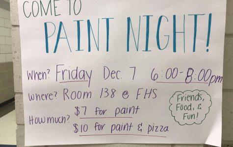 NAHS Presents Paint Night