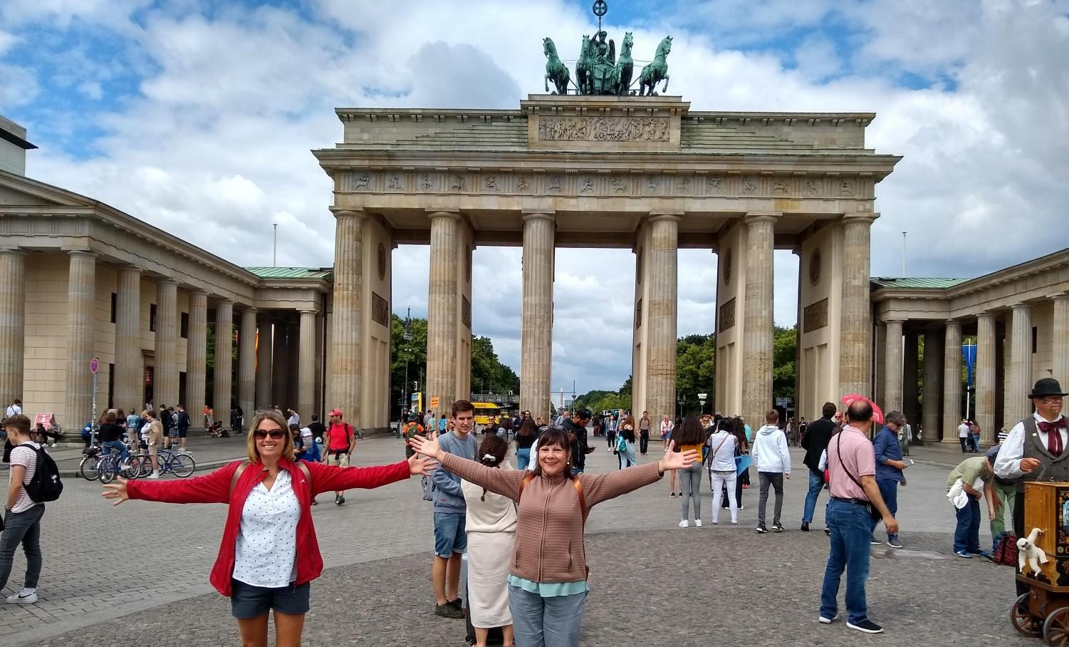 This summer's trip will include Berlin. Above is a picture of Mrs. Reilly and Mrs. McKeown who were on last summers trip.