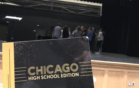 The cast of Franklin High School's production of Chicago is hard at work in rehearsals.
