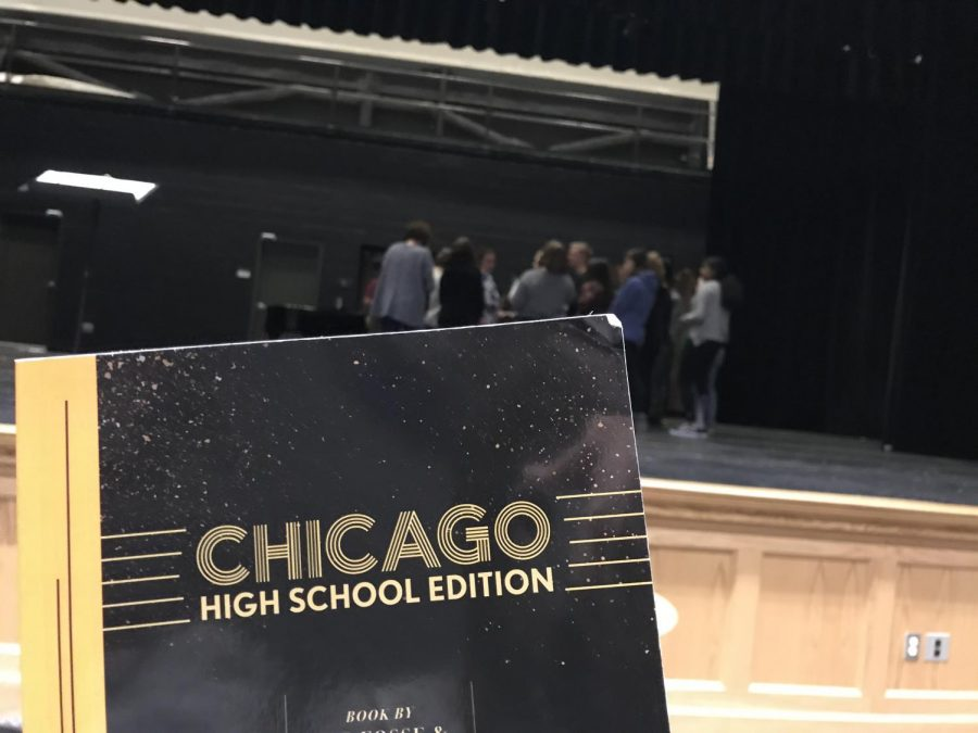 The cast of Franklin High Schools production of Chicago is hard at work in rehearsals.