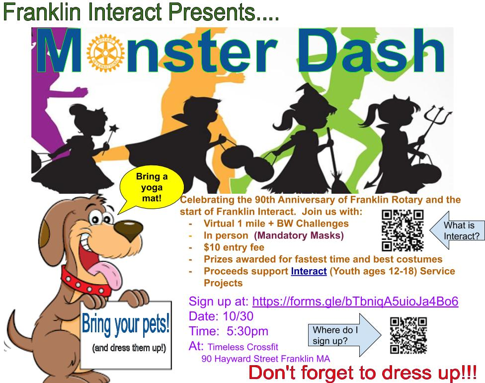 Monster Dash: Fund raising fitness event - Oct 30