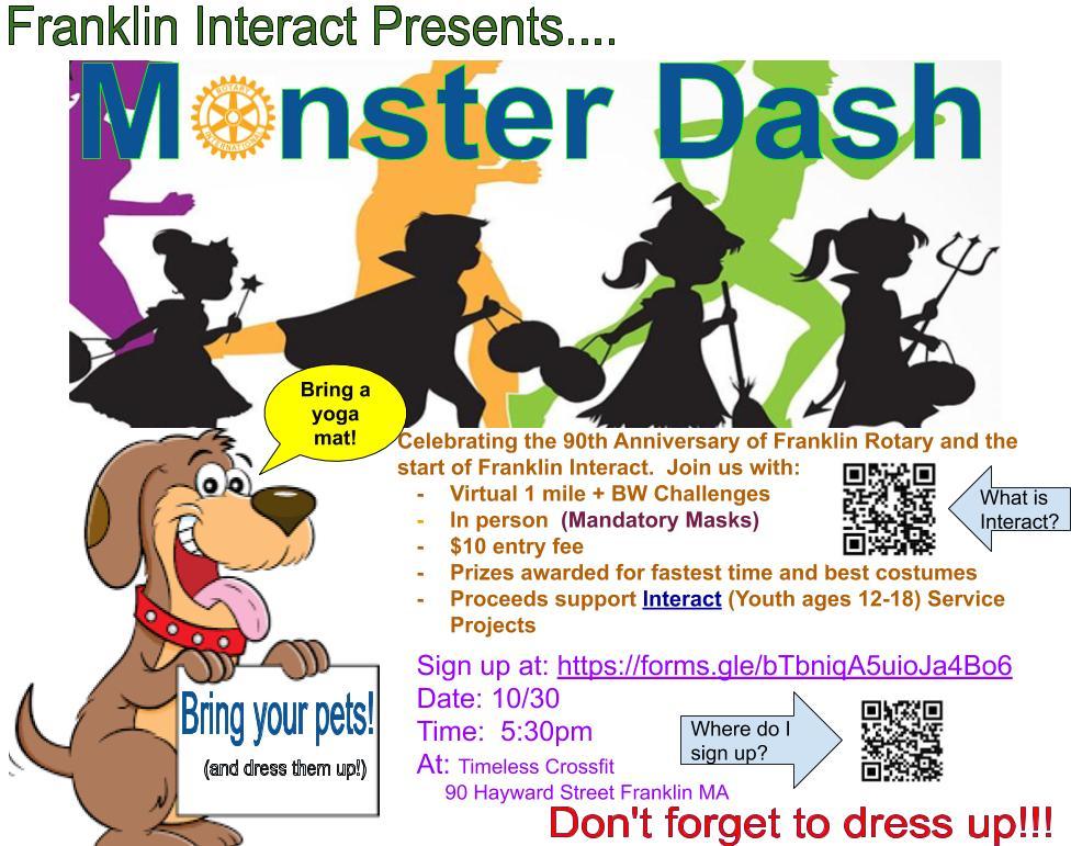 Monster Dash: Fund raising fitness event - Oct 30