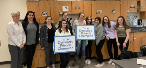 The club being trained as Dementia Friends Champion!