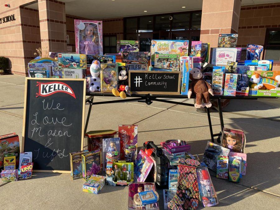 Toys donated last year to Helen Keller Elementary School. (Credit: Helen Keller Twitter Page)