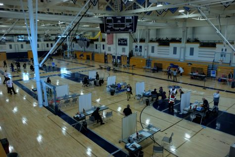 A view of the Franklin High School gym during Wednesday