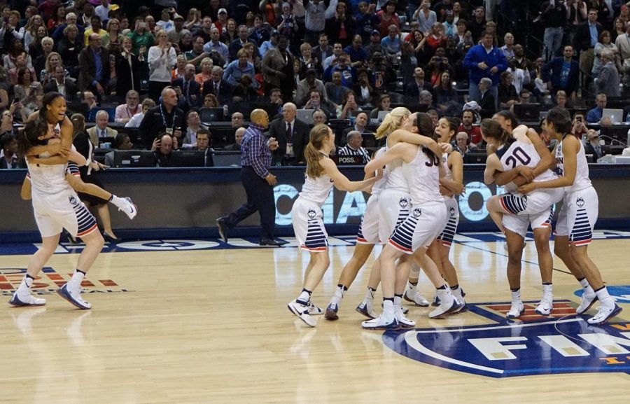 In 2016, the UCONN Huskies won the female NCAA tournament against Syracuse.