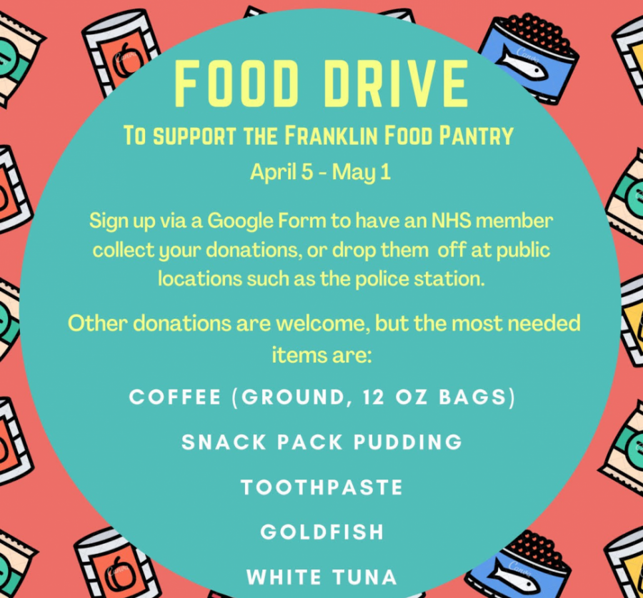 Students can donate to the Food Driv until May 1st. Photo Credit: Ndoumbe Ndoye