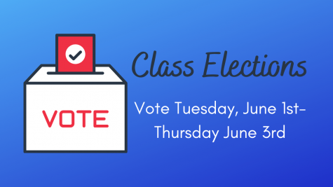Class elections for officers will be taking place from Tuesday, June 1st through Thursday, June 3rd.