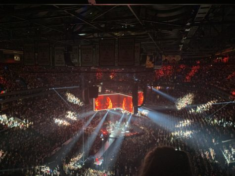 TD Garden pictured during the opening to Watermelon Sugar near the end of the show.